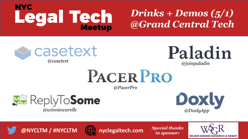 NYCLTM: Drinks + Demos (May 1st @Grand Central Tech)