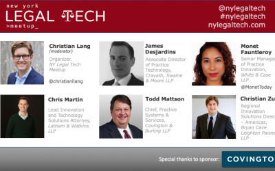 "Video: ""Tech & Innovation in Biglaw"" Panel"