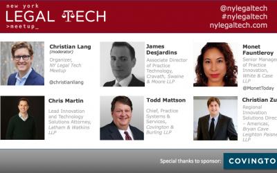 "Video: ""Tech & Innovation in Biglaw"" Panel"